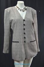Casual Corner Blazer dress coat light suit jacket rockabilly Size 14 VTG 80s New