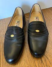 Rare Playboy Uomo Italia Ruian Jinjian Men's Black Leather Slip On Shoes