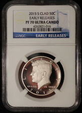 2015 S Kennedy Clad Proof Half Dollar ~ NGC Early Release Proof 70 Ultra Cameo