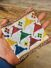 Vintage Hand Made Multicolour Beads Fine Indian Tribal Lady Art Work Decorative