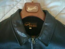 Giubbotto/giacca pelle STEWART uomo taglia media. Medium size. MADE IN ITALY.