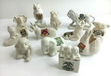 More details for vintage collection job lot of 12 pieces of crested china animals dog lion monkey