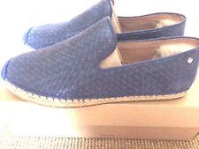 Ugg Australia Shoes Size UK 5.5 Metálico Azul Suave Cuero Nuevo en Caja Nuevo Y En Caja