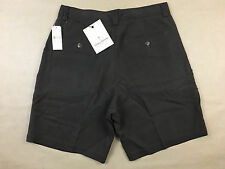 TOMMY BAHAMA Mens NWT Classic Brown Silk Pleated Dress Shorts Tag Size 30