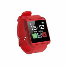 Smart Wristwatch Unlocked Watch Cell Phone Bluetooth iPhone Android HTC LG Red