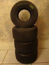 Mojo D1, Rotax, White Stripe 4.5X10.0-5,Set of 4 Tires- CRG,Tony Kart, Birel ART