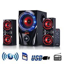 beFree Sound 2.1 Channel Surround Sound Bluetooth USB/SD Speaker System w/Remote