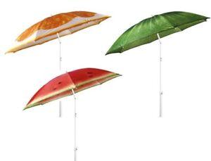 Bright Parasol Garden Umbrella Beach Shade Tilting Lovely Fruit Colours 180cm