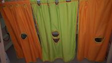PAIDI Vorhangset + 2 Taschen 1,55m Betthöhe