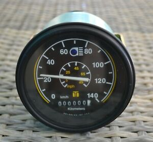 BLUE BIRD WANDERLODGE TELEFLEX SPEEDOMETER 1502780 W/ HIGH BEAM 0-140 KM/H