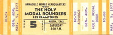 Holy Modal Rounders Concert Ticket 1977