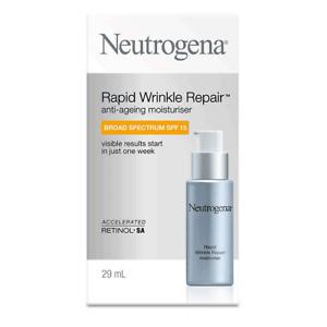 NEUTROGENA Rapid Wrinkle Repair ANTIAGEING MOISTURISER + Cleansing Oil +Facemask
