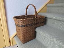 VINTAGE Country Rustic  Wicker Stair Step Basket