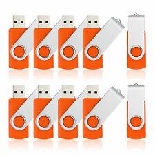10X32GB Metal USB Flash Drives Swivel Memory Stick Thumb Pen Drive Storage