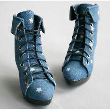 48# Jeans Blue Star 1/3 BJD DOD Dollfie High Heels Shoes