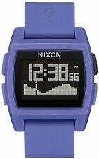 Nixon Women's Base Tide A11042553-00 38mm Black Dial Silicone Watch