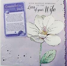 Perte Femme sympathie condoléances carte + souvenir souvenir-GRATUIT 1ST CLASSE POST