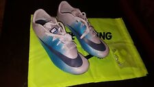 e53ef6c3a0df NIKE ZOOM JA FLY 3 TRACK   FIELD SPIKES SIZE 9 GREY THUNDER BLUE 865633