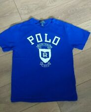 Boys Age 10-12 Polo Ralph Lauren Blue distressed style Logo T