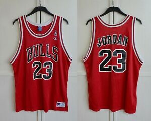 MINT! NBA CHICAGO BULLS #23 MICHAEL JORDAN JERSEY VNTG 90s CHAMPION SIZE 52/2XL