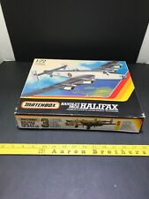 Matchbox 1/72 scale WWII British Handley Page Halifax airplane model kit