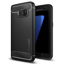 Galaxy S7 Spigen® [Rugged Armor] Black Ultra Slim TPU Shockproof Cover Case