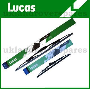 "NISSAN JUKE FRONT WIPER BLADES 22"" & 13"" LUCAS  - PAIR - 2011 to 2017"