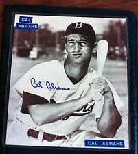 8x10 Black ^ White Photo, Cal Abrams Brooklyn Dodgers autographed