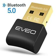 Bluetooth Dongle 5.0 Adapter by EVEO Bluetooth for Laptop, Headset and more!