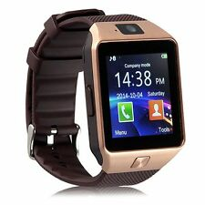 DZ-09 Bluetooth 3.0 Smart Pedometer Anti-lost Watch Phone for IOS Anroid Golden