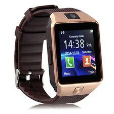 DZ-09 Bluetooth Smart Pedometer Sport Watch Phone for IOS Anroid Golden