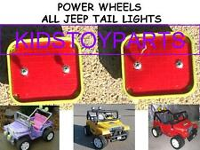 Pair of Lime Green FRAMED Fisher Price Power Wheels 2 Seat Jeep Tail Lights