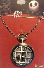 Disney The Nightmare Before Christmas Lock Shock & Barrel Pocket Watch Necklace