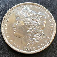 USA 1896 Morgan Dollar $1 Unzirkuliert Gereinigt Silber Selten #23176