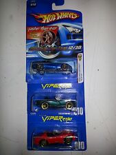 Hot Wheels Dodge Viper RT10 Lot of 3