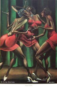 """""""Singin' Sistahs"""" by Ernie Barnes /Closed Edition 17x23"""