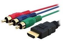 1.5m Video Übertragung HDMI auf 3 Cinch RCA RGB Kabel Stecker PC PSP PS3 HD TV