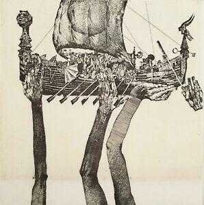 IVAN RUSACHEK, Art Print, Original Hand Signed Etching, Ex Libris Bookplate,2006