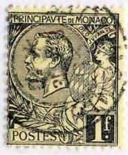 Timbres de Monaco noirs oblitérés
