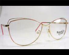 Vintage Rose Gold Women's Wire Rim Classic Eyeglass Frame 55-17 1980's Cateye