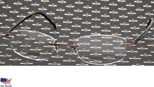 NEW AIRLOCK 2 By MARCHON 770/45 015 BROWN EYEGLASSES TITANIUM GLASSES 51-20-135