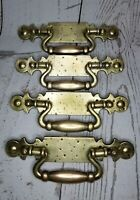 Vintage Brass drop bale drawer pulls 5 1/4 center BPC 143901822 Cottagecore