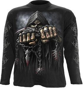 Spiral Direct GAME OVER Long Sleeve Top T-Shirt, Goth, Biker, Rock, Reaper Metal