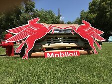 Antique Vintage Old Style Mobil Pegasus Left And Right Sign! *SALE!!!*
