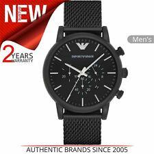 Emporio Armani Men's Sport Watch¦Chronograph Dial¦Black Mesh Bracelet¦AR1968