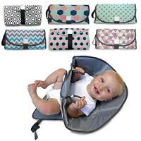 3-in-1 Waterproof Baby Diaper Travel Home Change Pad Changing Mat Organizer Bag