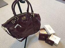 Brand New With Tag Coach Madison Patent Lindsey Handbag Set