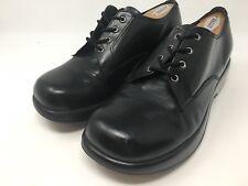 Dansko Black Leather Oxford Lace Up Clog Shoes Women's Size: 40 / 9