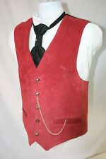 Outlaw Sheriff Suede Mens 42 Vest 5 Buttons 2 Pockets Western Steampunk SASS