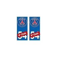 PSG Paris Foot nouveau logo autocollant plaque droits
